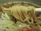 海老塩ラーメン 麺のアップ