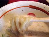 蟹泡つけ麺 麺のアップ