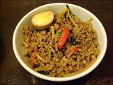 タイ風バジル炒めライス(挽肉・竹の子・パプリカ) 小 450円