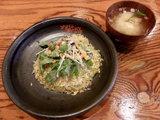 焙りうなぎとハリハリ水菜のサラチャー 620円