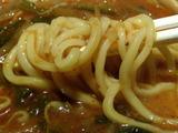 激辛森本らー麺Lv.3 麺のアップ