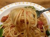 牛肉のトマト煮 麺のアップ