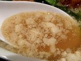 鶏とニラのスタミナラーメン スープのアップ