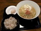 冬の鶏白湯らぁ麺&梅御飯 880円 + 半熟味付玉子 120円