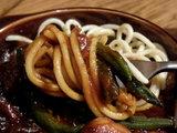 ビーフシチューアラモード 麺のアップ