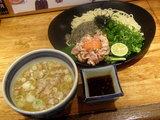 地鶏ユッケの和えつけ麺 980円
