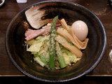 春野菜と桜海老の汁なし麺 春の塩 800円 + 味玉 100円