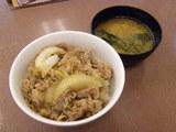 松屋 牛丼(並)300円 つゆだく