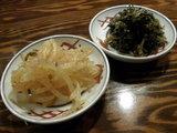 「辛子高菜」と「辛味和えモヤシ」