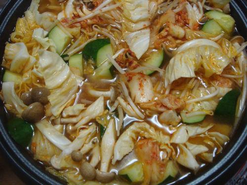 8月のキムチ鍋