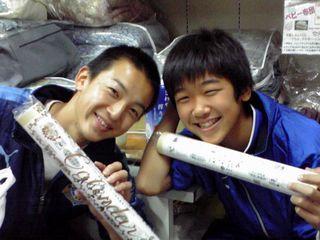 2011年11月中学生左林君右辻君
