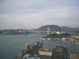 展望台からの関門海峡