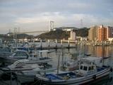 漁港から見た関門海峡
