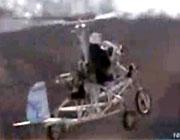 バイク+ヘリコプター「スカイサイクル」