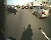 車載カメラが捉えた交通事故の瞬間