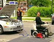 電動車椅子ドッキリ企画