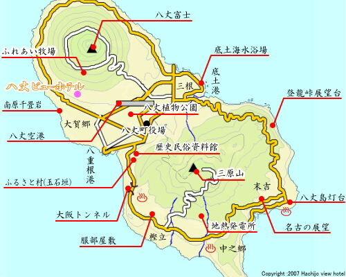 八丈島地図
