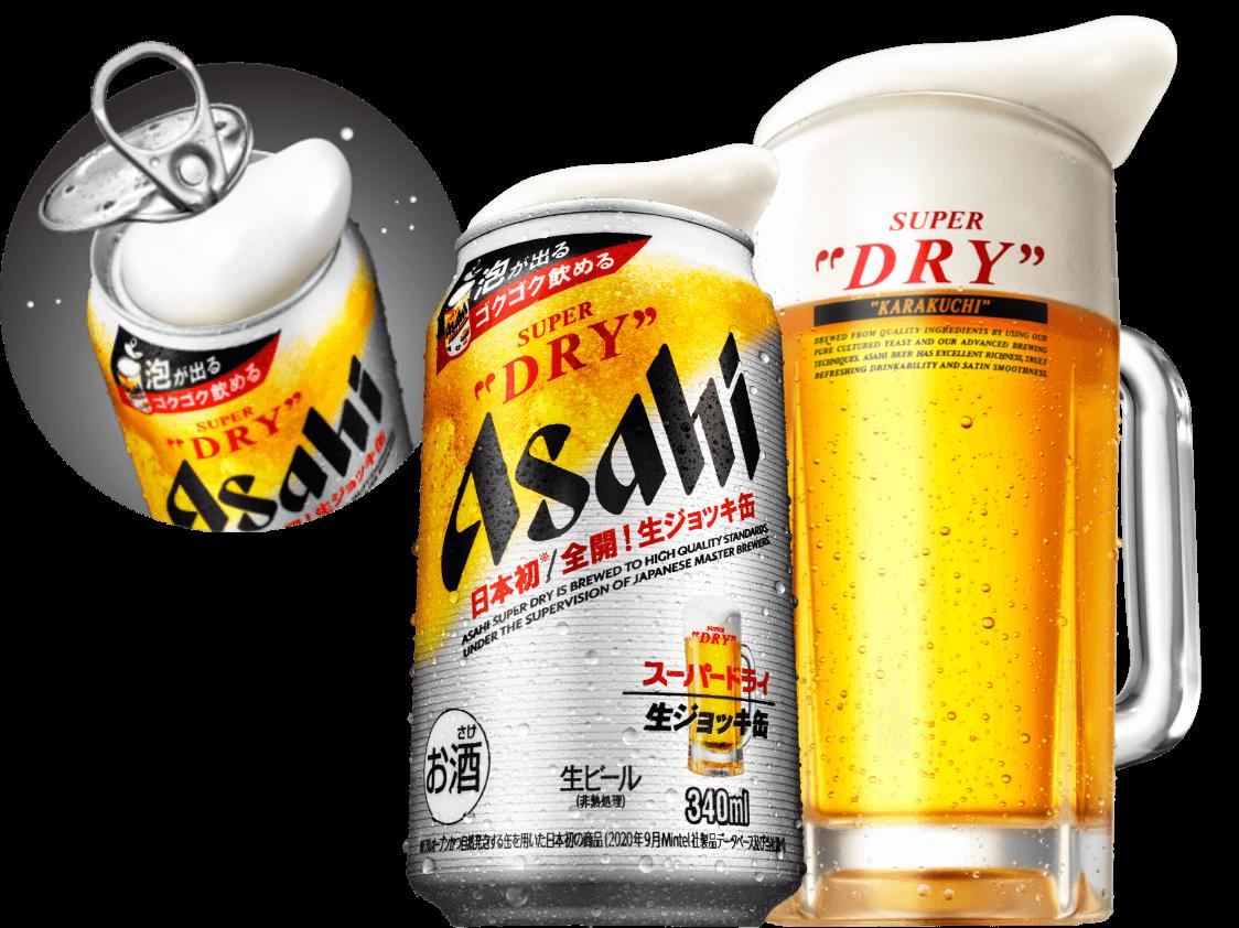 生ビール缶 アサヒスーパードライ