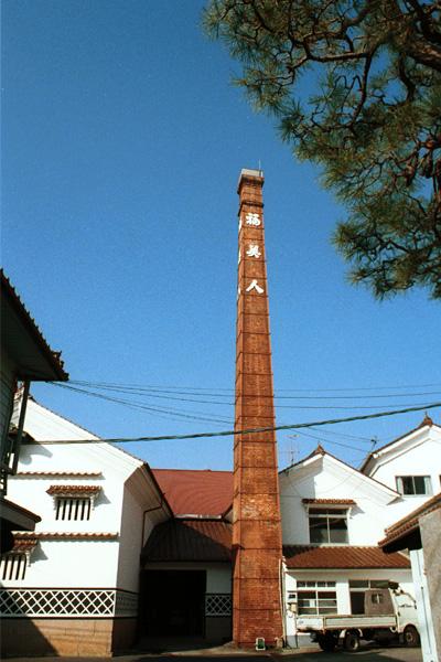 造り酒屋の煉瓦煙突