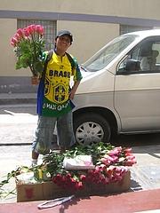 バラの花配達