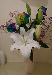 七色のバラ
