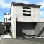 京都市北区,注文住宅,モダン住宅,デザイナーズ住宅,一級建築士事務所,鉄筋コンクリート造,地下1階,地上2階建,