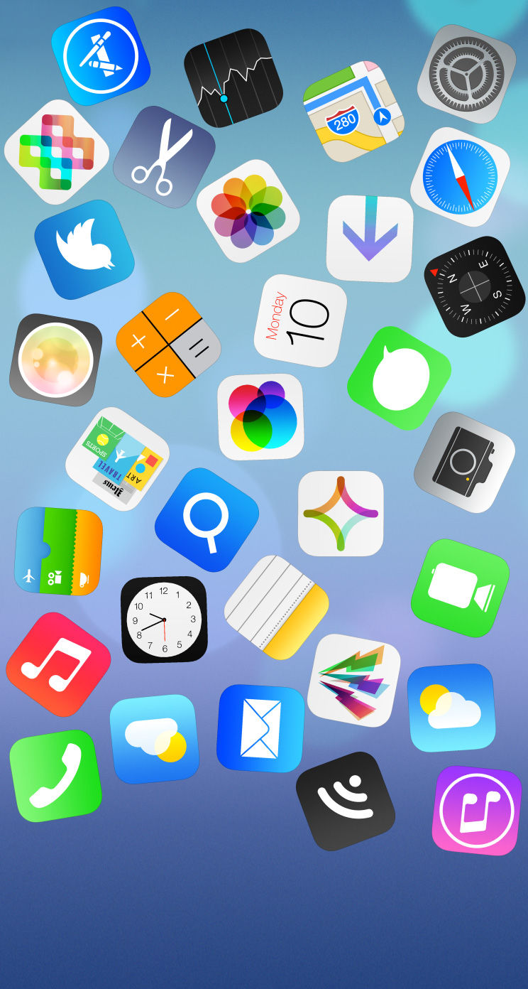 Ios7 壁紙 Iphone5s 5c Wallpaper ちらばったios7 Ios7 壁紙