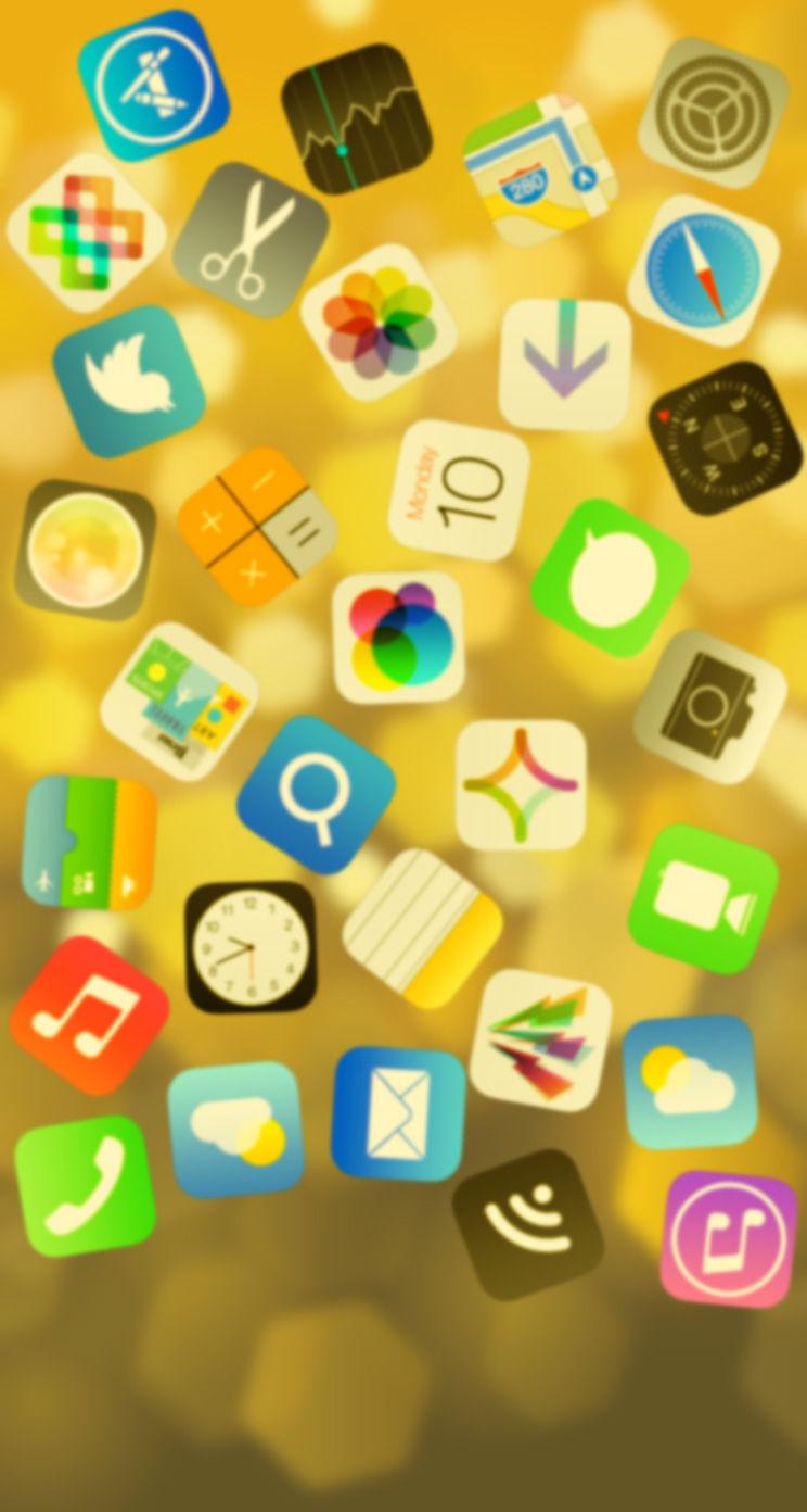Ios7 壁紙 壁紙サイズが 744 1392 に変わiphone5c 5s Ios7用の壁紙 ゴールド Iphone5s に似合う 金色の壁紙 Iphone5 壁紙ギャラリー