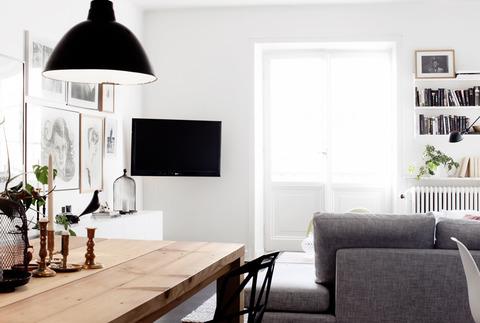 スウェーデン Black+White+Woodのインテリア