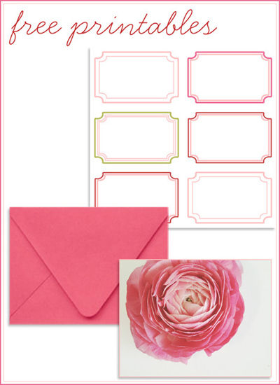 Free Download Card and Labels