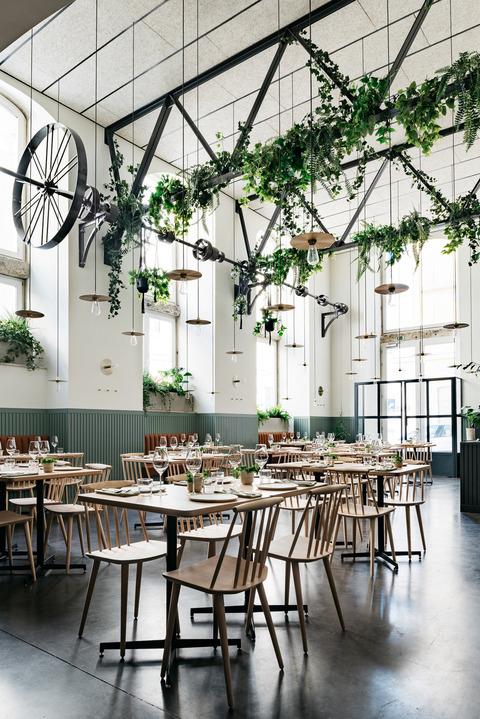 ポルトガルのグリーンいっぱいのレストラン
