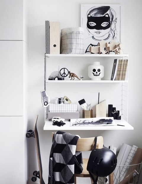 Black & White Work Space for Kids