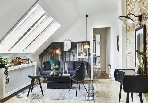 Denmark ノスタルジックとRaw素材のアパートメント