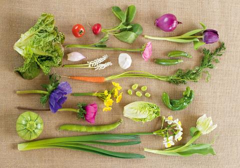 野菜を使ったテーブルデコレーション