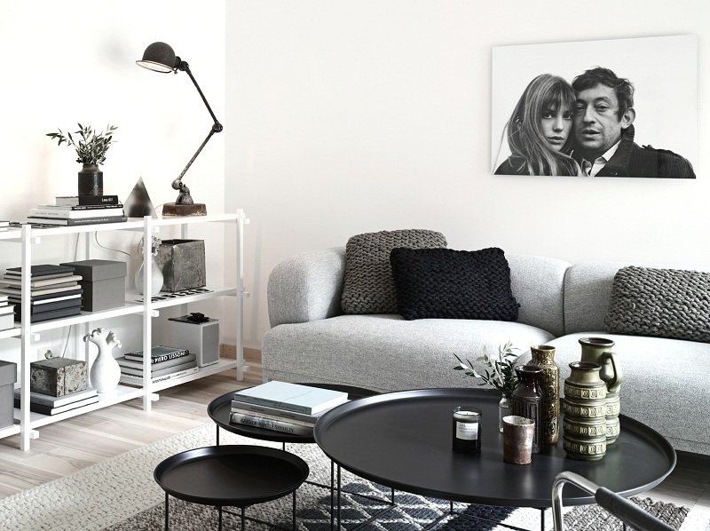 Decor file - Salones blanco y negro ...