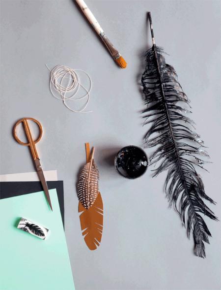 *DIY* Featherがモチーフのインテリアアクセサリー
