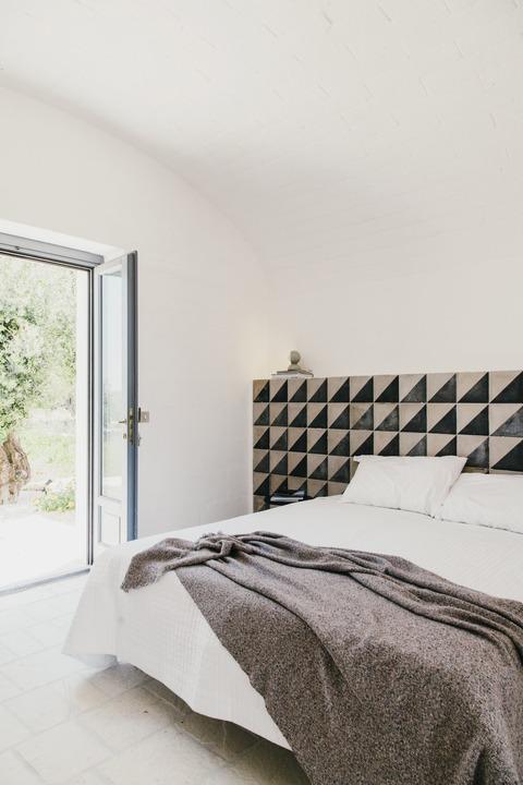 イタリアのブティックホテルのベッド