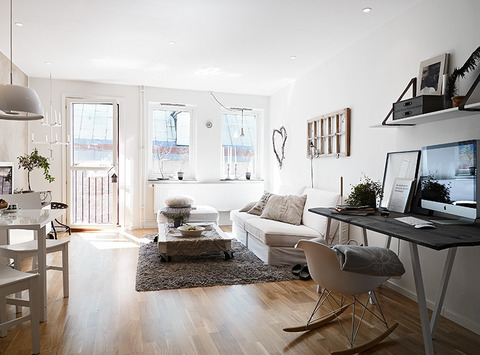 Sweden Simple, Natural One Bedroom Apartment