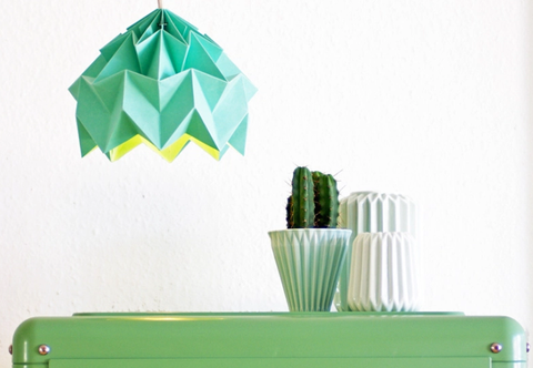 *DIY* 折り紙ランプシェード