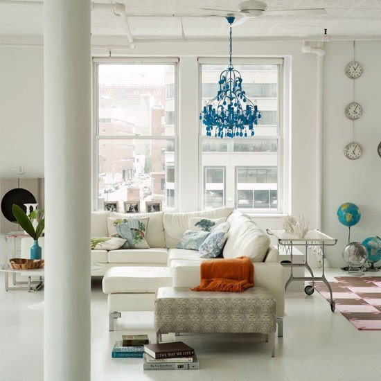 The Living Room Thai Nyc: Decor File : White+PastelのNew York Loft