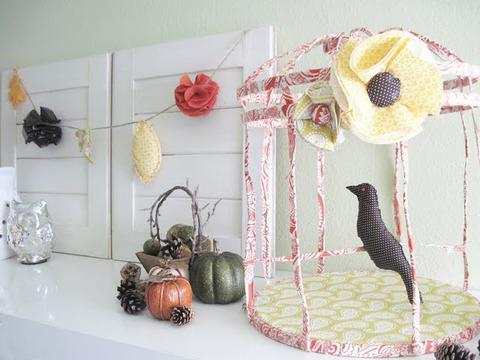 刺繍枠で作るかわいいBird Cageのデコレーション