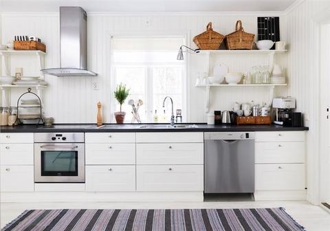 スェーデン 北欧スタイルのカントリーキッチン