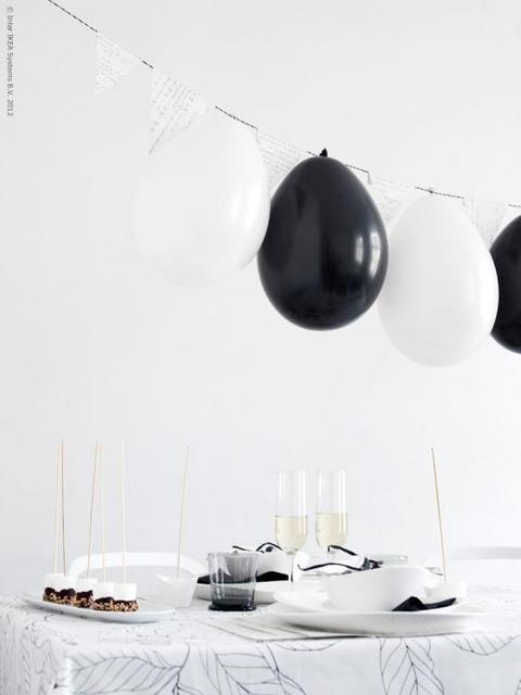 Black & Whiteのパーティーアイディア