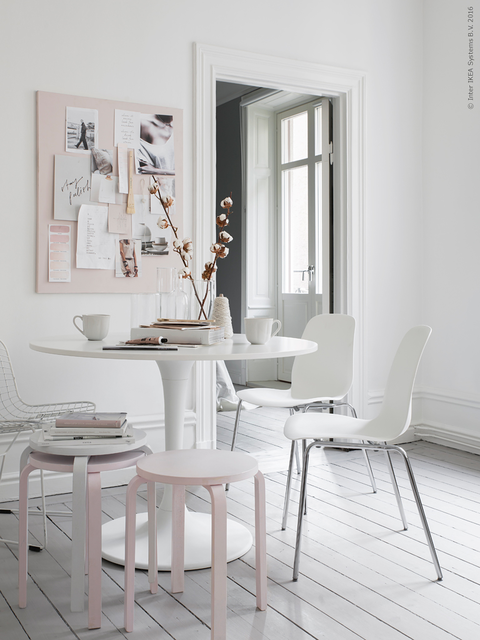 Pastel Pink Office