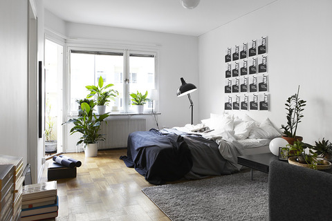 Sweden Black & White 1Bedroom Apartment