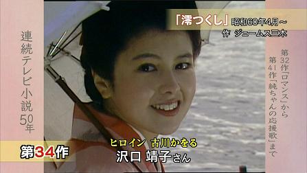 着物姿で日傘をさし微笑む若い頃の沢口靖子