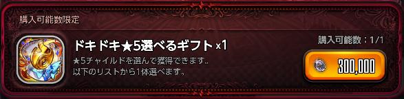 ドキドキ★5選べるギフト