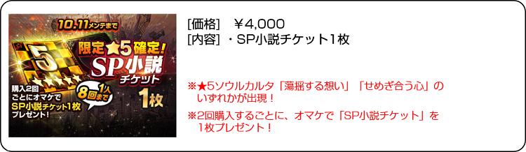 限定★5確定SP小説チケット