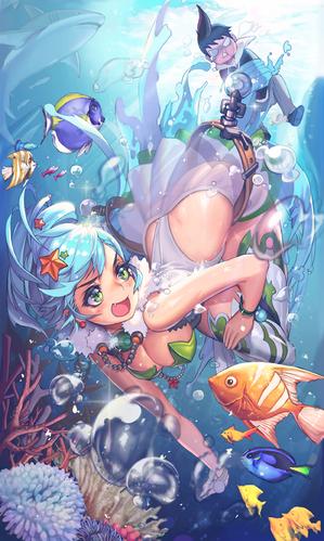 海中デート