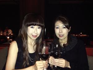 姉妹で乾杯